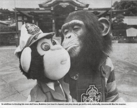 bubbles the chimpanzee chimp monkey michael jackson