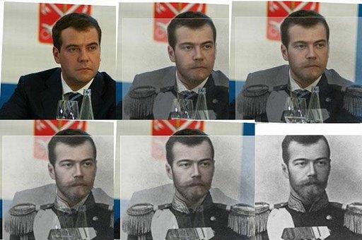 dmitri dmitry medvedev czar change nicholas ii morph tsar
