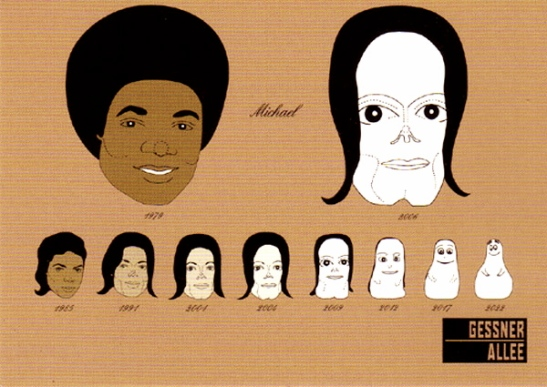 evolution michael jackson plastic surgery
