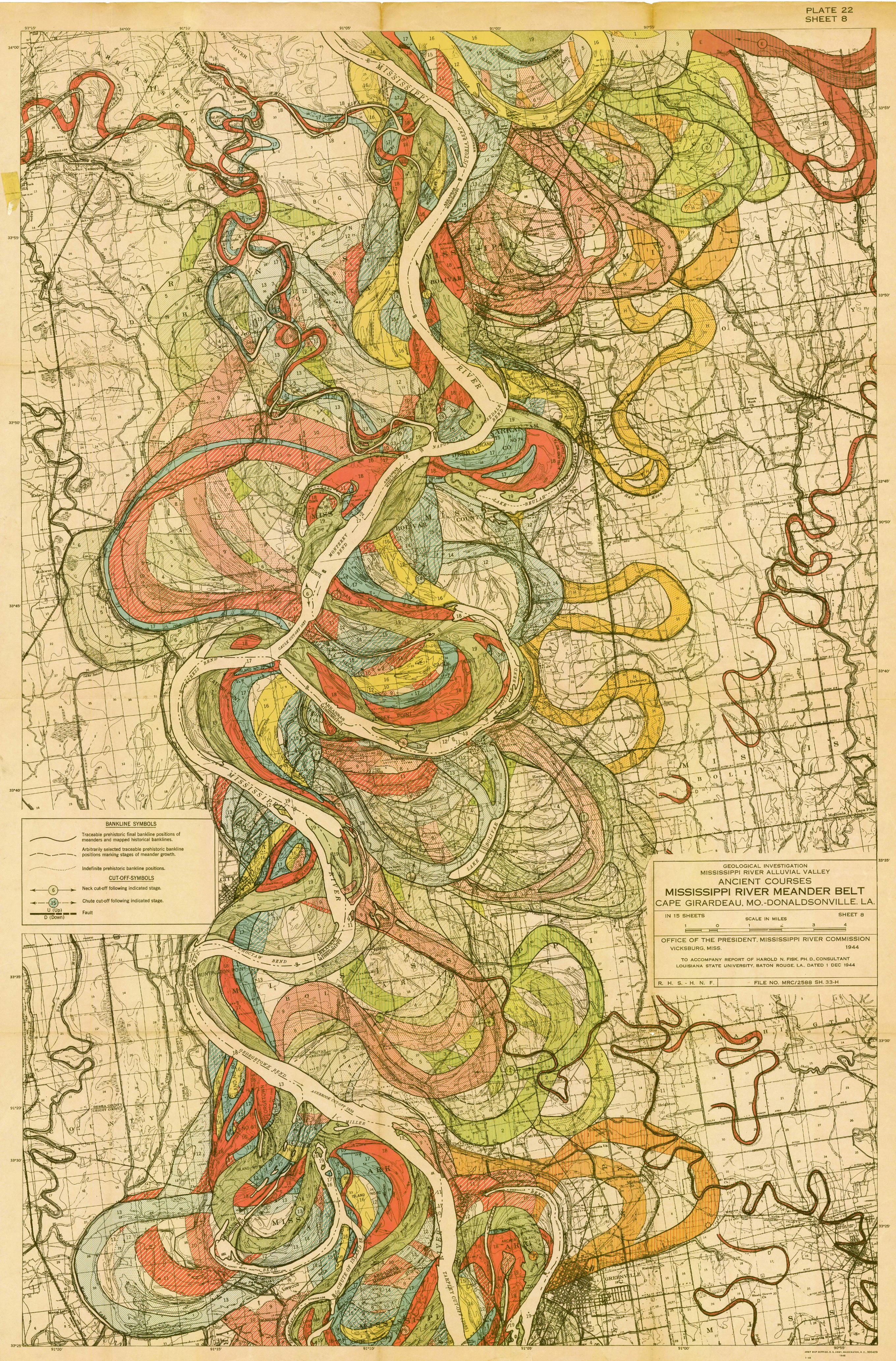 Mississippi river meander belt cape giradeau mo–donaldsonville