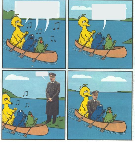 Hitler bird canoe muppets